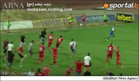 حمله تماشاچیان به بازیکنانی اسرائیلی در بلغارستان + تصاویر