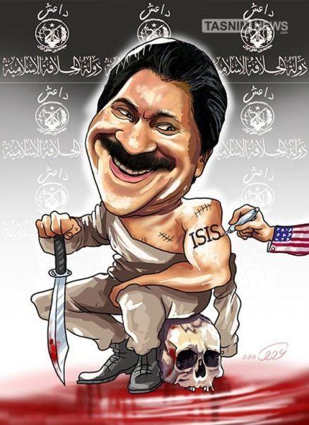 کاریکاتور/ چهره جدید مسعود رجوی!