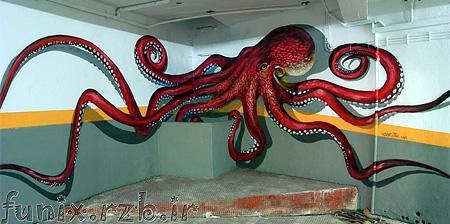 نقاشی های سه بعدی خیابانی