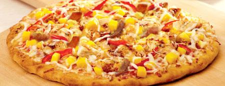 درست کردن پیتزا مخلوط با انبه,طرز تهیه پیتزا با انبه
