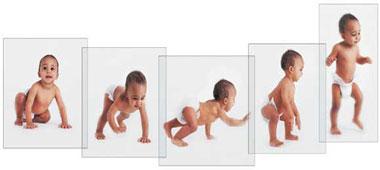 روند رشد و تكامل كودك از یک ماهگی تا شش ماهگی
