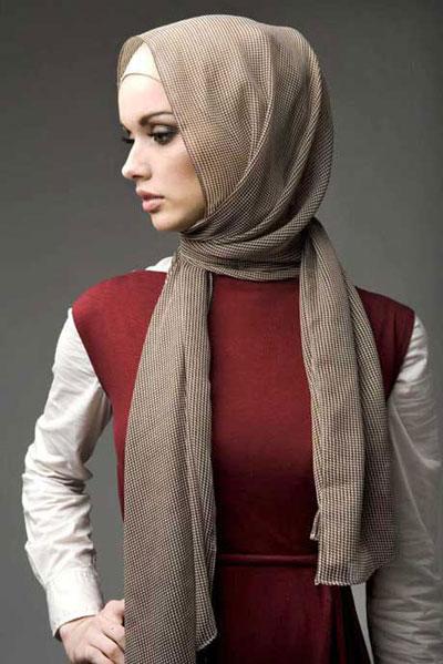 مدل بستن شال و روسری