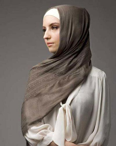 مدل بستن شال و روسری دخترانه