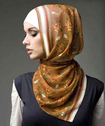 روش بستن شال و روسری دخترانه