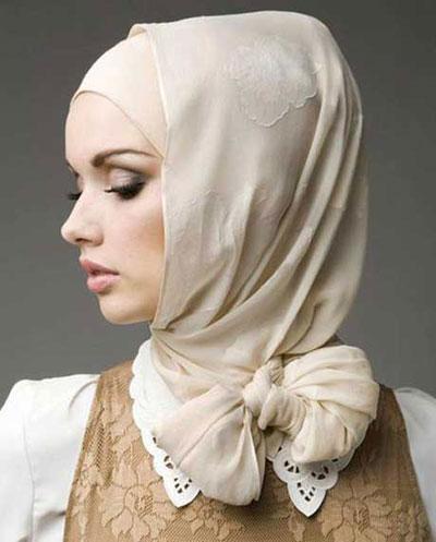 مدل بستن شال و روسری دخترانه2015