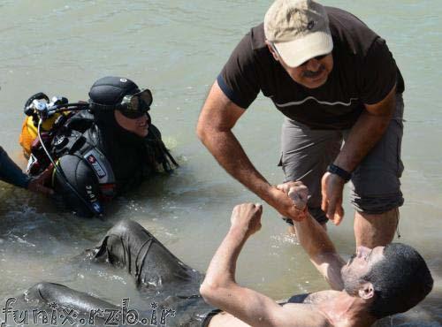 عکس غرق شدن یک جوان در سد قشلاق