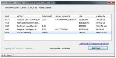 دانلود برنامه فرمت سطح پایین HDD Low Level Format Tool 4.40