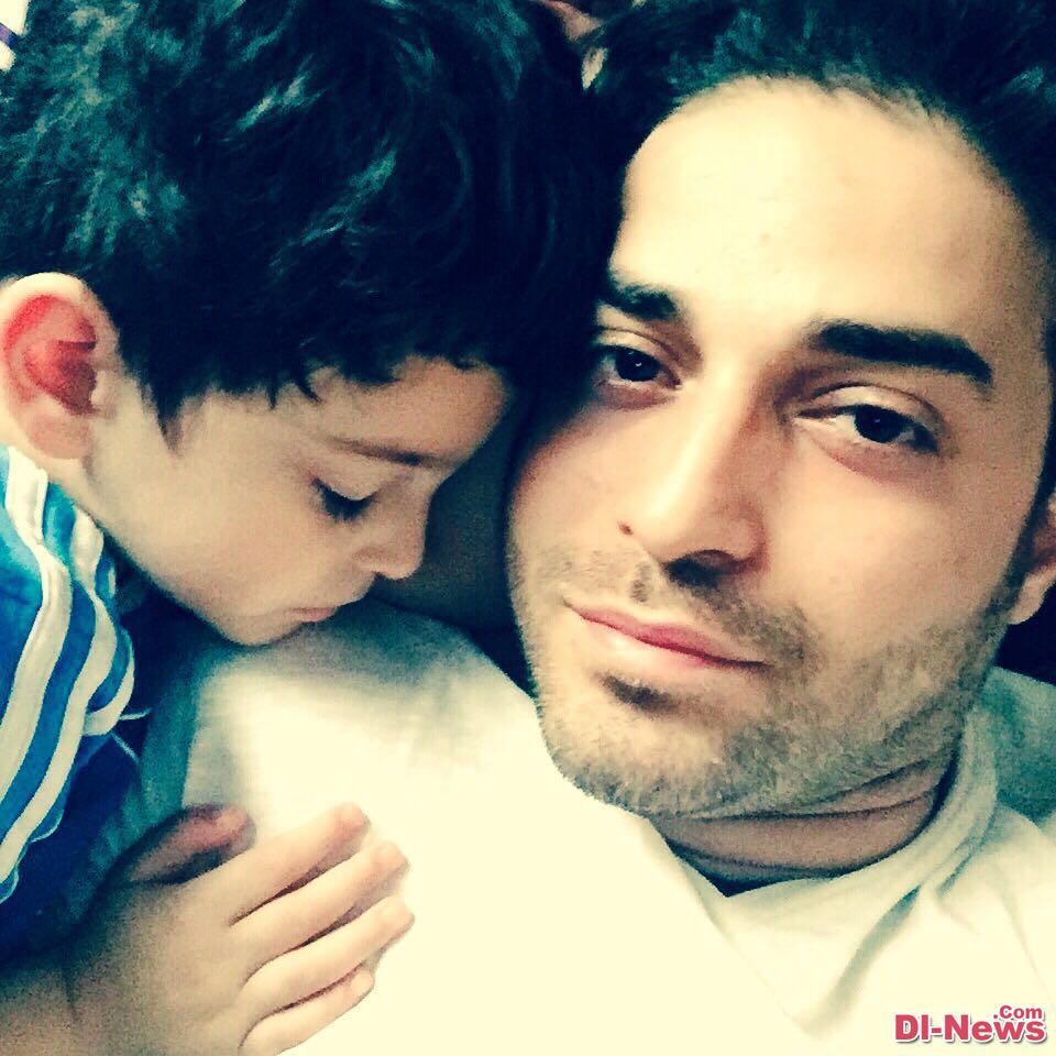عکس متفاوت بابک جهانبخش و پسرش