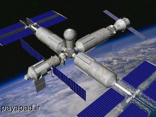 نمایی از ایستگاه بین المللی فضایی