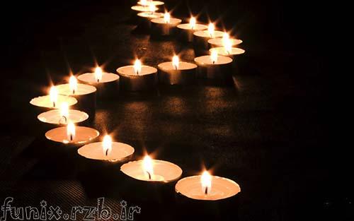 تصاویر متحرک زیبا از شمع