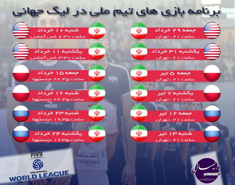 برنامه مسابقات لیگ جهانی