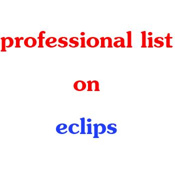 فهرستهای سفارشی (Customized Lists) در اکلیپس
