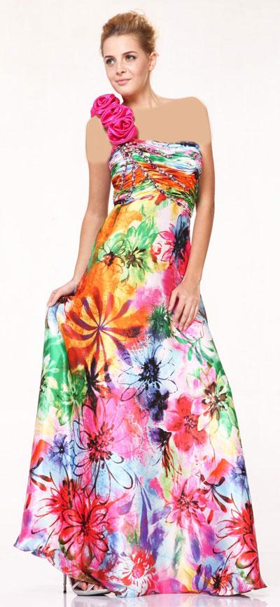 مدل های جديد لباس مجلسی طرح دار دخترانه 95