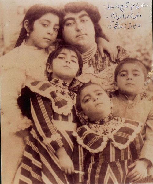 عکس: دختر ناصرالدین شاه و 4 فرزندش