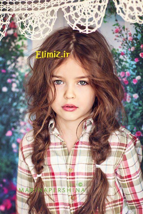 عکس دختر مو خرمایی قشنگ