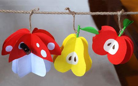 میوه های کاغذی درست کنید!