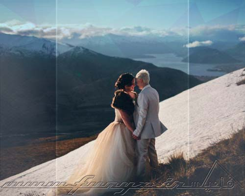 عکس های رمانتیک عروسی در مکان های حیرت انگیز