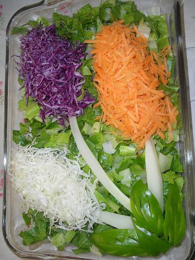 طرز تهیه سالاد کلم سفید و هویج