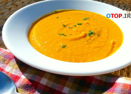 طرز تهیه سوپ کدو حلوایی