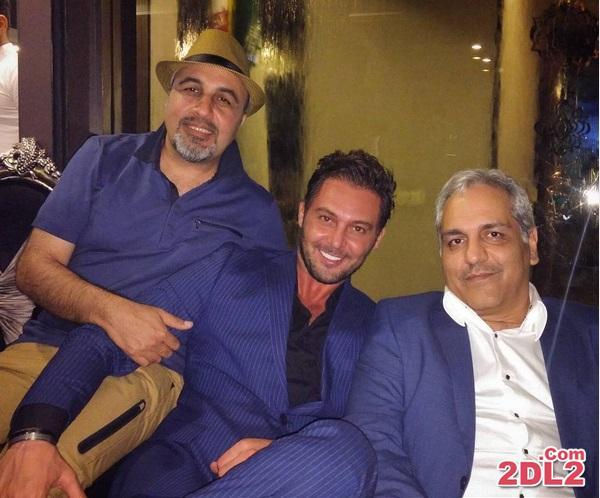 دانیال عبادی در کنار مهران مدیری و رضا عطاران + عکس