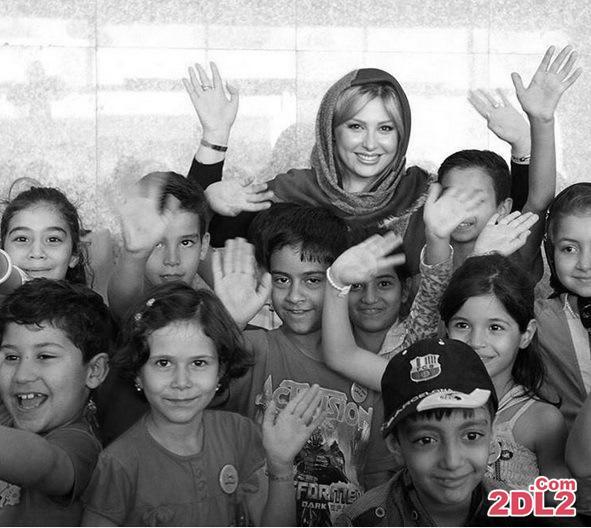 نیوشا ضیغمی در میان کودکان خیریه + عکس