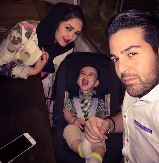 سلفی دیدنی عماد طالب زاده با همسر و پسرش +عکس