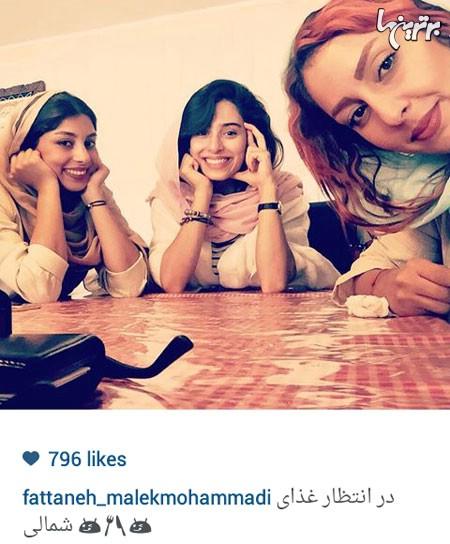 عکس سلفی جدید فتانه ملک محمدی در شمال - اینستاگرام