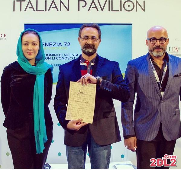 نیکی کریمی در هنگام دریافت جایزه منتقدین بین الملل + عکس