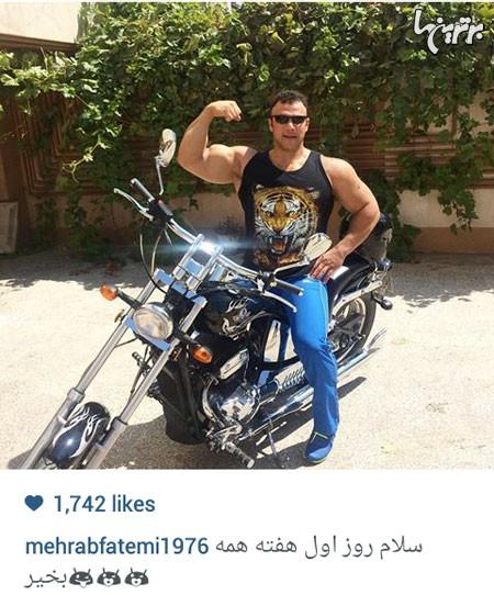 عکس جدید مهراب فاطمی قهرمان مردان آهنین در اینستاگرام