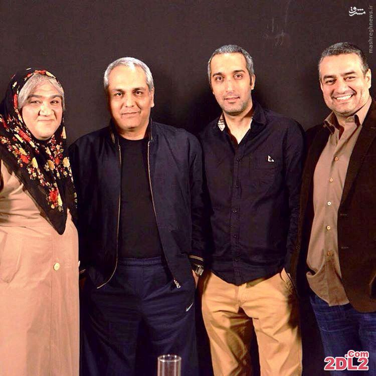 مهران غفوریان با گریم زنانه در کنار مدیری و ژوله + عکس