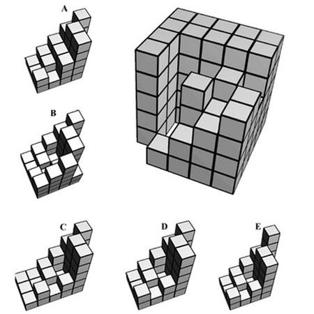 تست هوش : مکعب را کامل کنید
