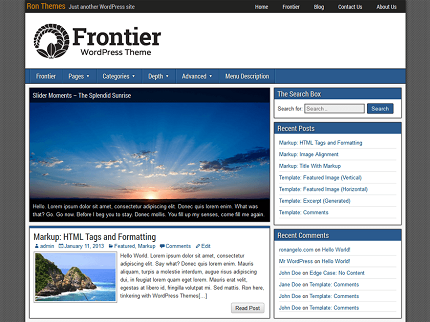 قالب Frontier برای وردپرس