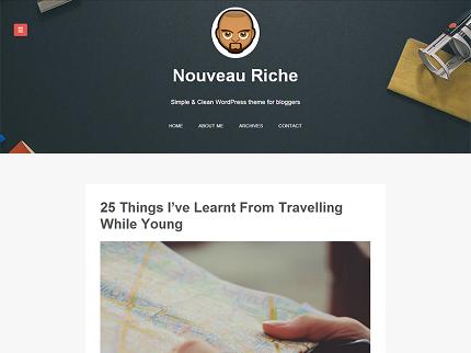 قالب Nouveau Riche برای وردپرس