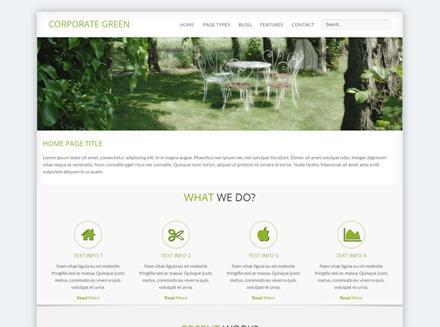 قالب Corporate Green برای جوملا