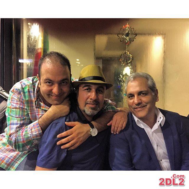 علی اوجی در کنار رضا عطاران و مهران مدیری + عکس