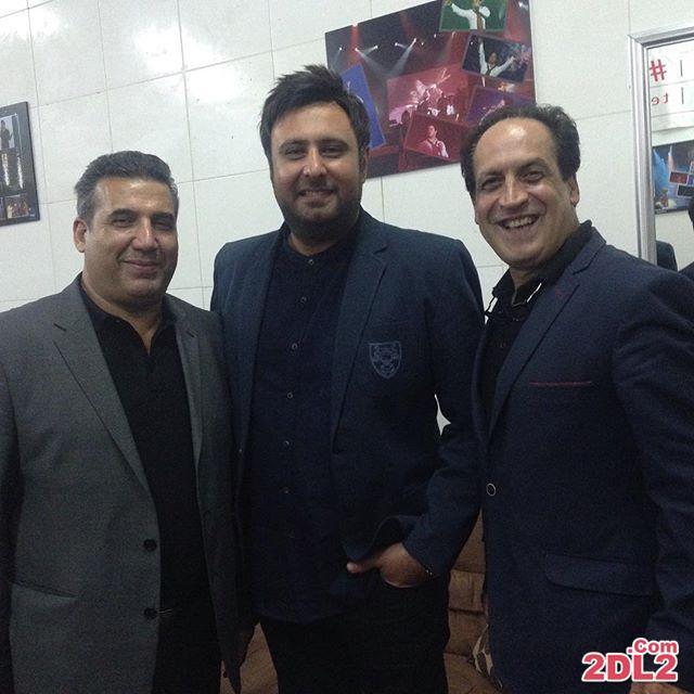 عکس بهمن هاشمی در کنار محمد علیزاده در کیش