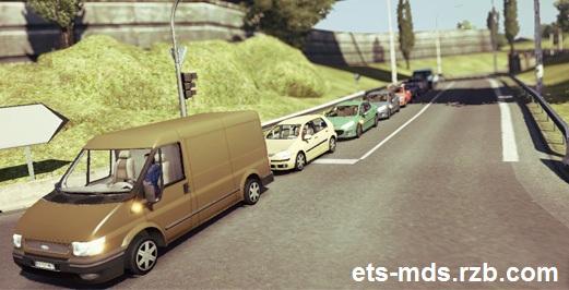دانلود مد جالب افزایش ترافیک جاده ها در ورژن 1.22.2 یورو تراک