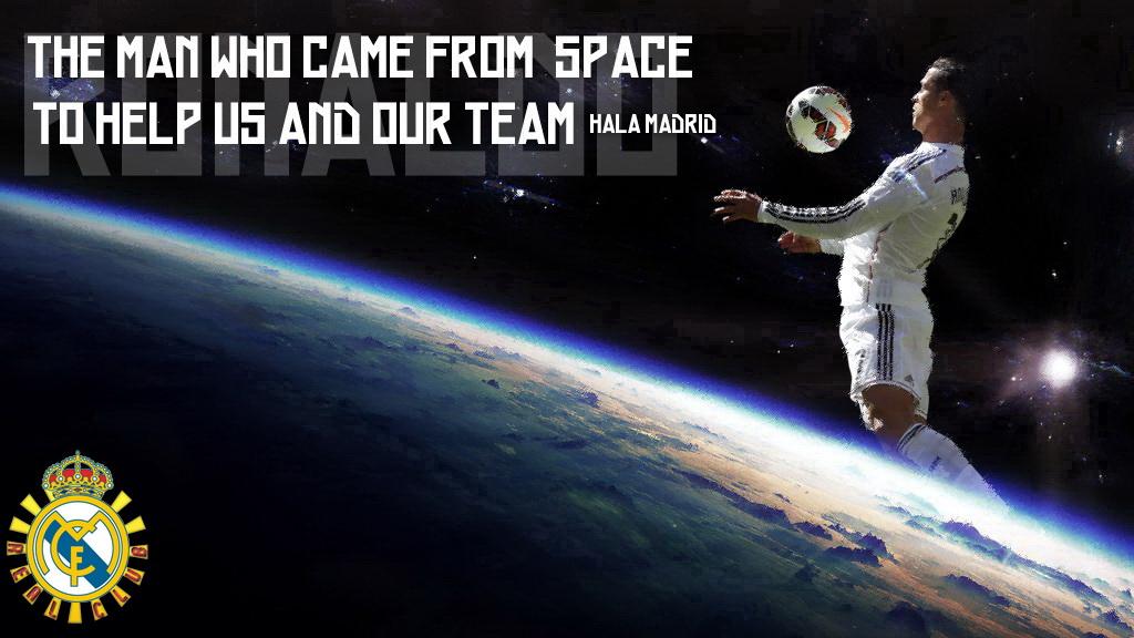 والپیپر اختصاصی / مردی که از فضا آمد تا به رئال مادرید کمک کند !