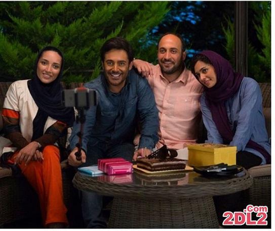سلفی خاطره اسدی با محمدرضا گلزار + عکس