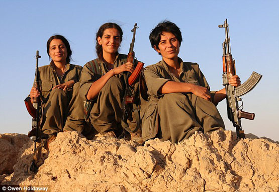 سه بانوی ایزدی، فرشتگان مرگ داعش شدند+ تصاویر