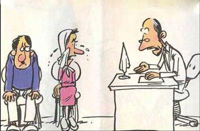 در دادگاه خــانواده (طنز)