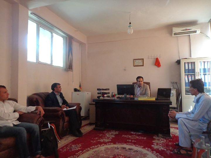 نشستی با انجنیرحمیدالله یک تن ازمسوولان مدیریت ساختمانی شاروالی هرات