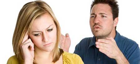 در دعواهاي زن و شوهري نبازيد!