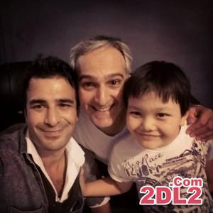عکس جدید بیژن بنفشه خواه با یوسف تیموری و پسرش
