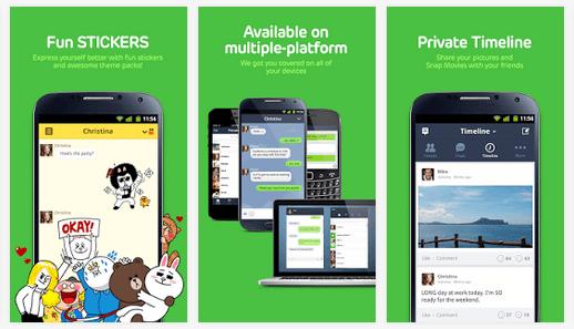 دانلود LINE 5.5.1 برنامه لاین تماس و پیامک رایگان اندروید