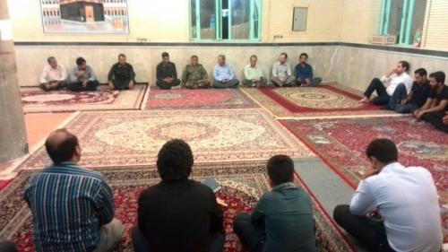 مراسم تودیع و معارفه فرمانده جدید پایگاه مقاومت شهید باهنر محله اردشیری