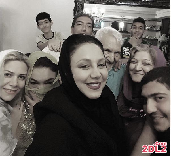 عکس سلفی بهنوش بختیاری با خانواده اش
