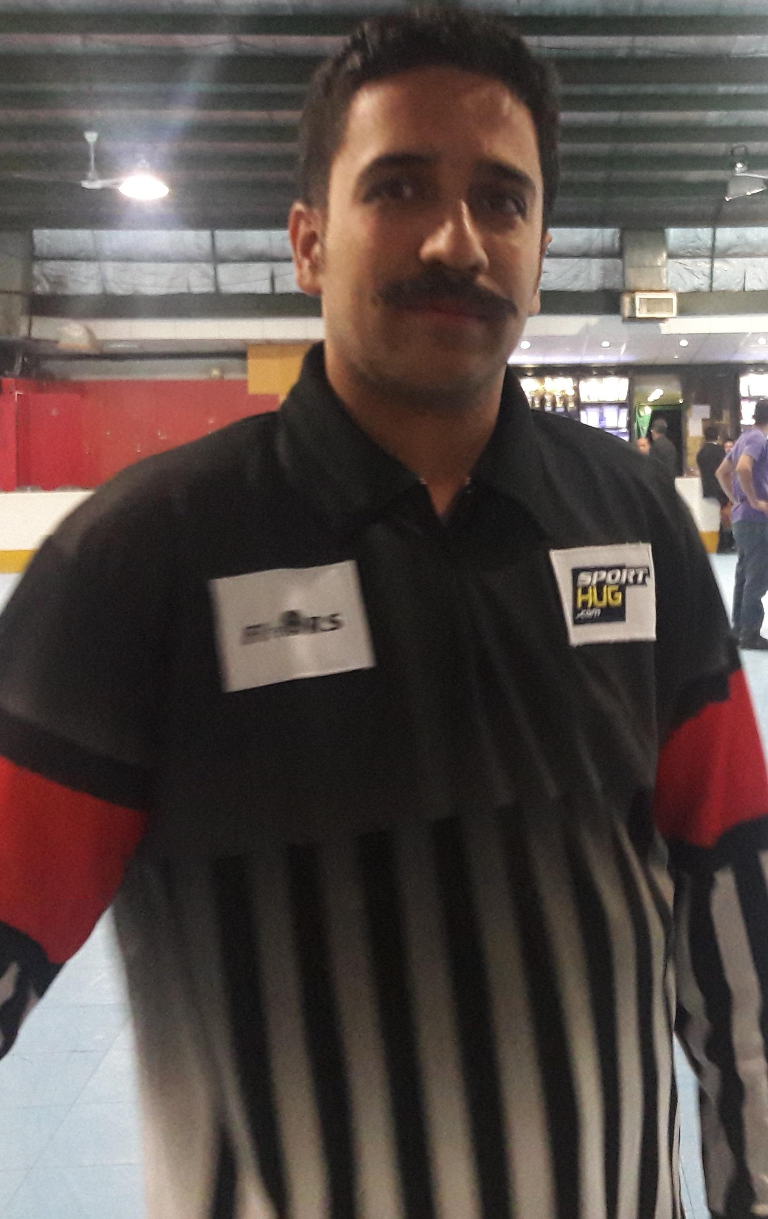 حضور داور قزوینی در مسابقات لیگ برتر اسکیت هاکی ایران