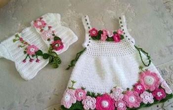 جدیدترین مدل های لباس بافتنی نوزاد / تصاویر