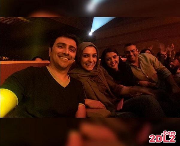 عکس سلفی امین زندگانی به همراه همسرش در کنسرت امید حاجیلی